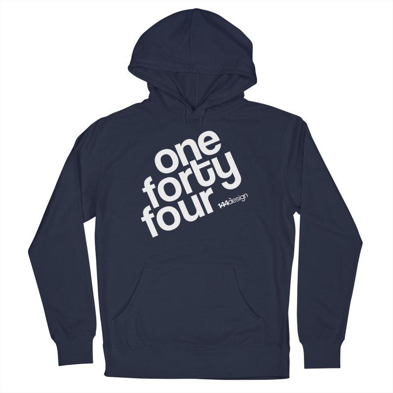 onefortyfour-white Men's Pullover Hoody by 144design