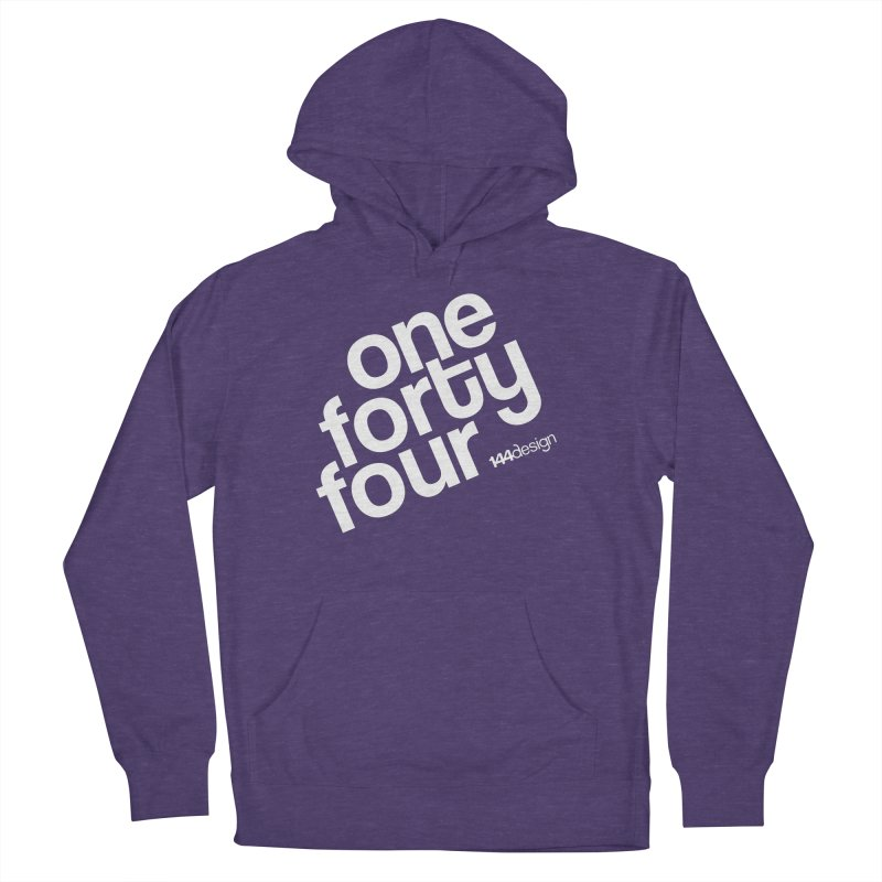 onefortyfour-white Women's French Terry Pullover Hoody by 144design
