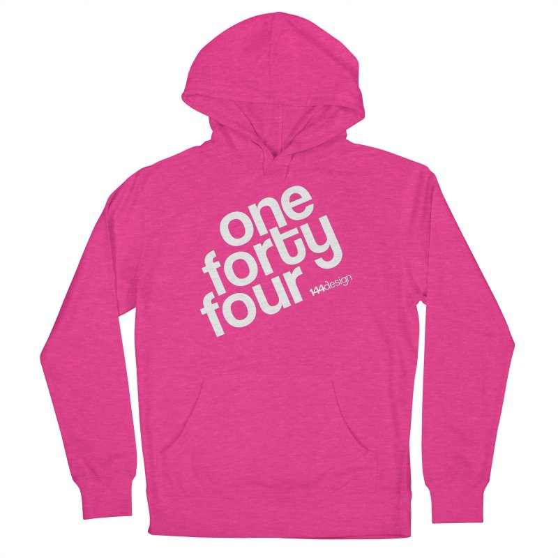 onefortyfour-white Men's French Terry Pullover Hoody by 144design