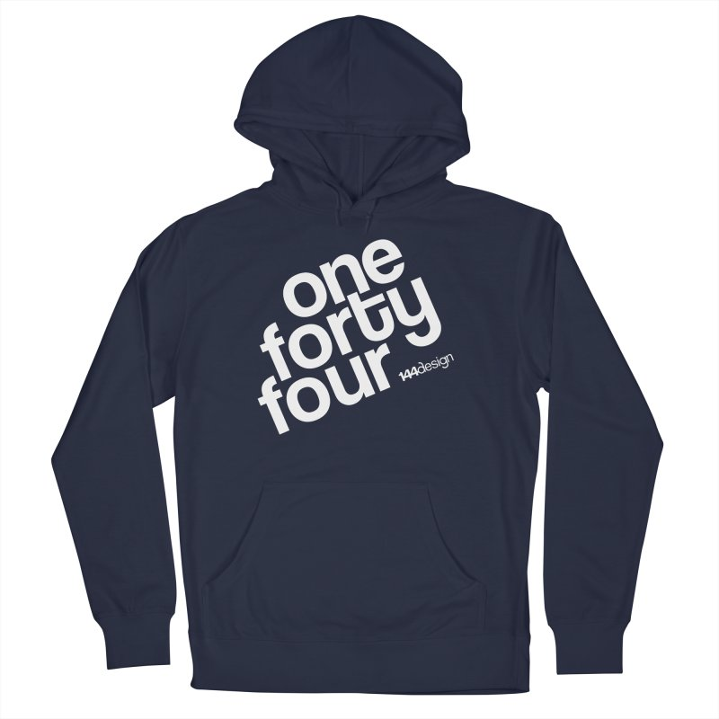 onefortyfour-white Men's Pullover Hoody by 144design
