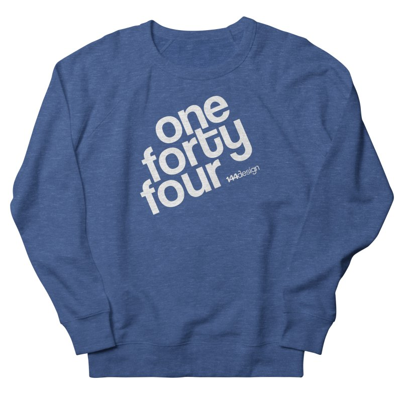 onefortyfour-white Men's French Terry Sweatshirt by 144design