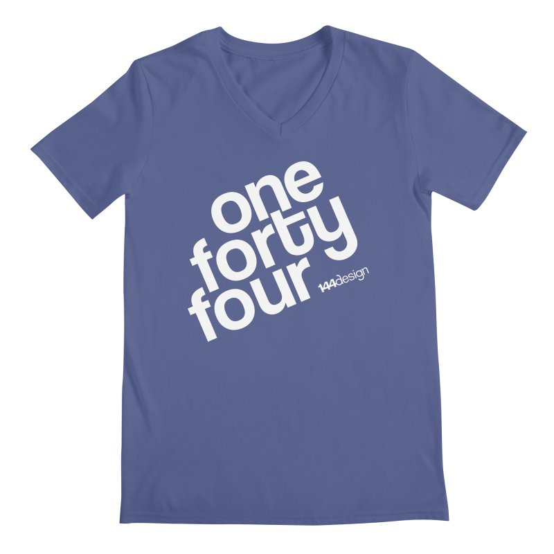 onefortyfour-white Men's V-Neck by 144design