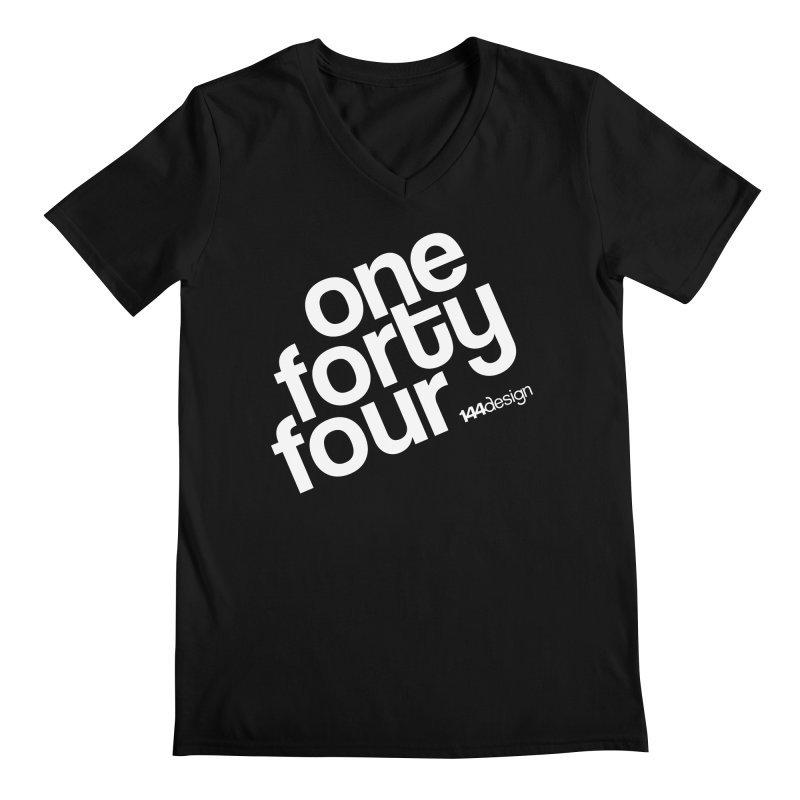onefortyfour-white Men's Regular V-Neck by 144design