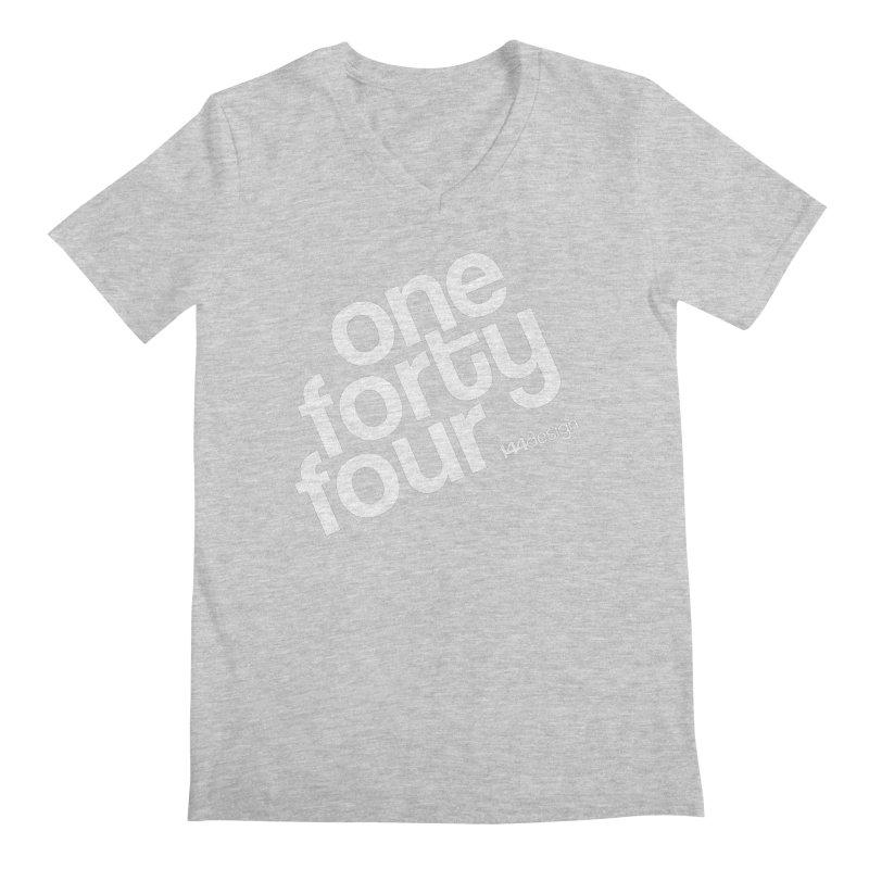 onefortyfour-white Men's V-Neck by 144design