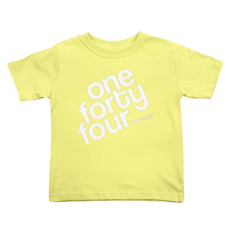 onefortyfour-white Kids Toddler T-Shirt by 144design