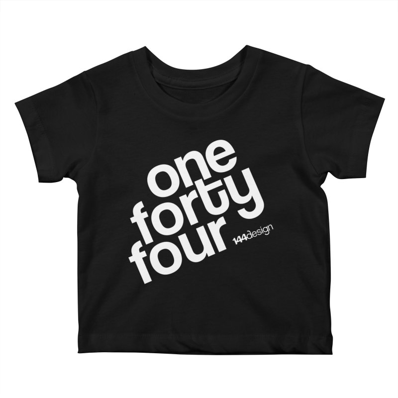 onefortyfour-white Kids Baby T-Shirt by 144design