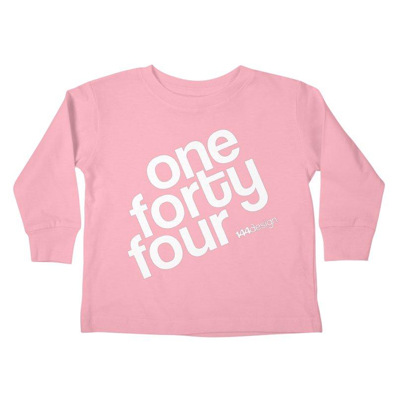 onefortyfour-white Kids Toddler Longsleeve T-Shirt by 144design