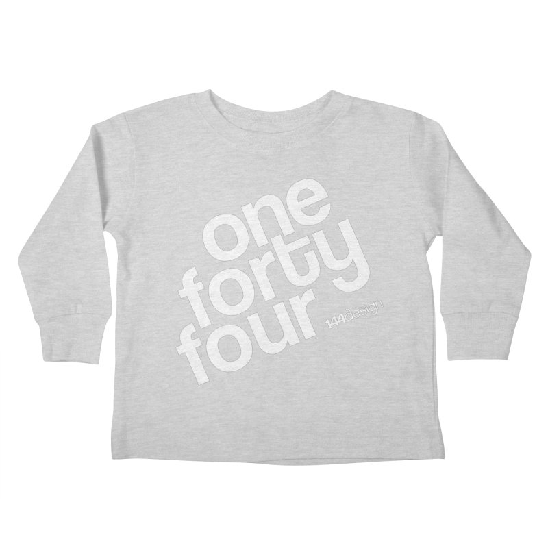 onefortyfour-white Kids Toddler Longsleeve T-Shirt by 144design