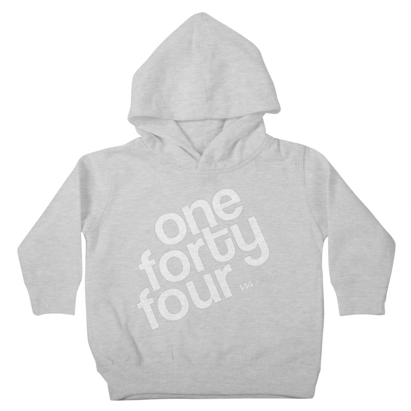onefortyfour-white Kids Toddler Pullover Hoody by 144design