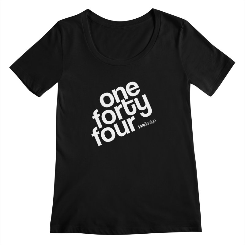 onefortyfour-white Women's Scoopneck by 144design