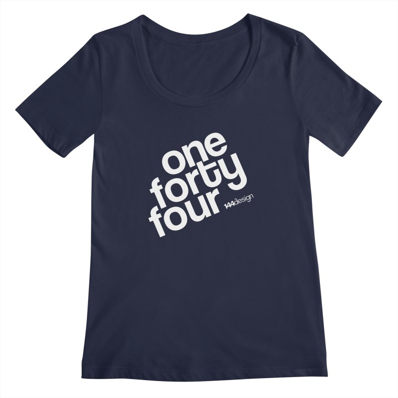 onefortyfour-white Women's Regular Scoop Neck by 144design