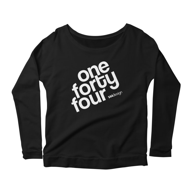 onefortyfour-white Women's Longsleeve Scoopneck  by 144design