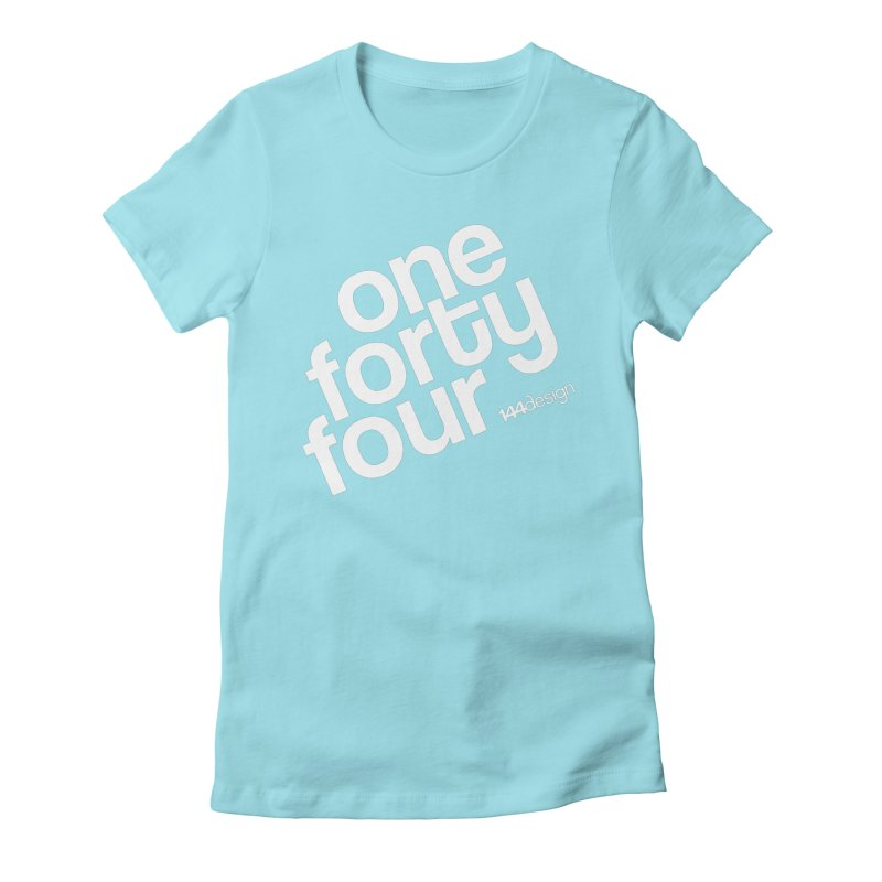 onefortyfour-white Women's Fitted T-Shirt by 144design