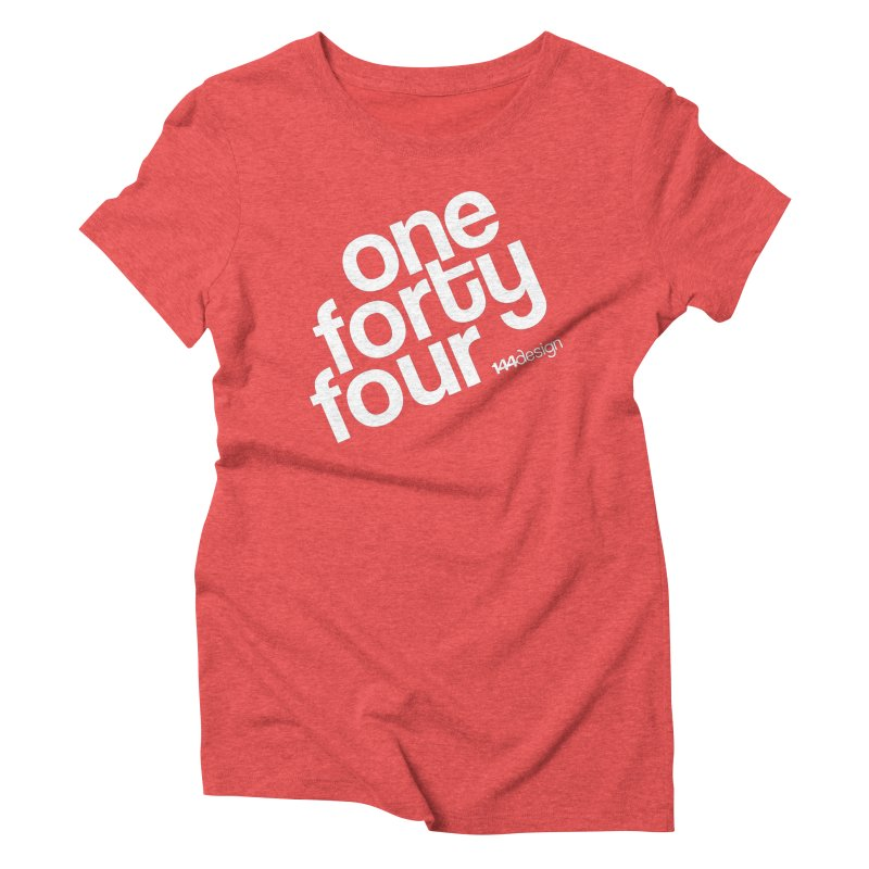 onefortyfour-white Women's Triblend T-shirt by 144design