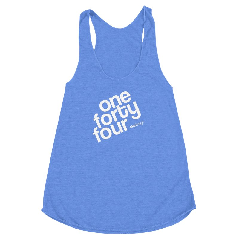 onefortyfour-white Women's Racerback Triblend Tank by 144design
