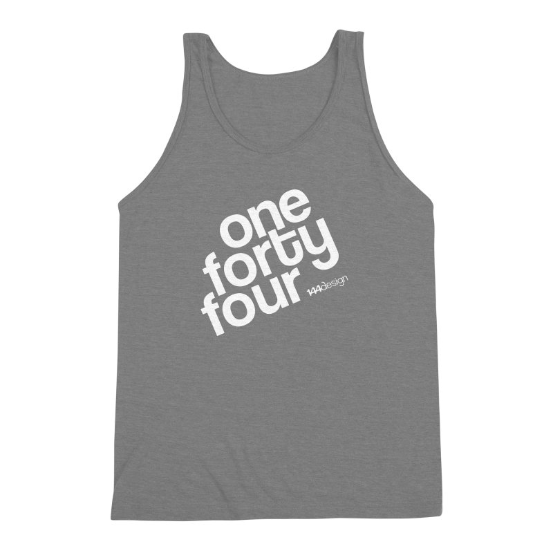 onefortyfour-white Men's Triblend Tank by 144design