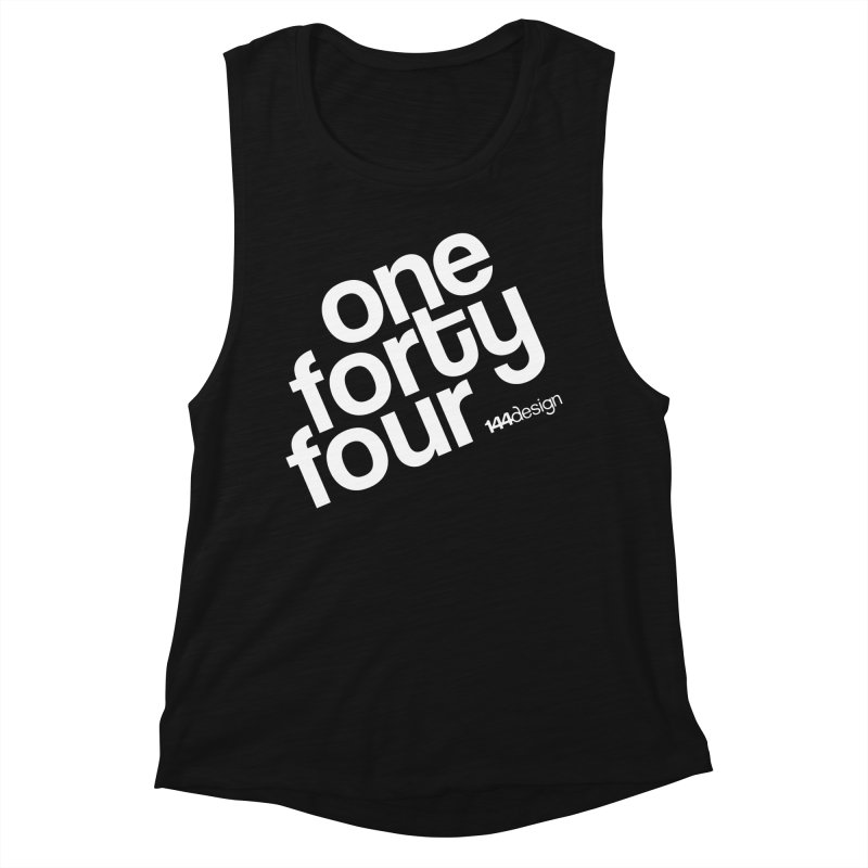 onefortyfour-white Women's Muscle Tank by 144design