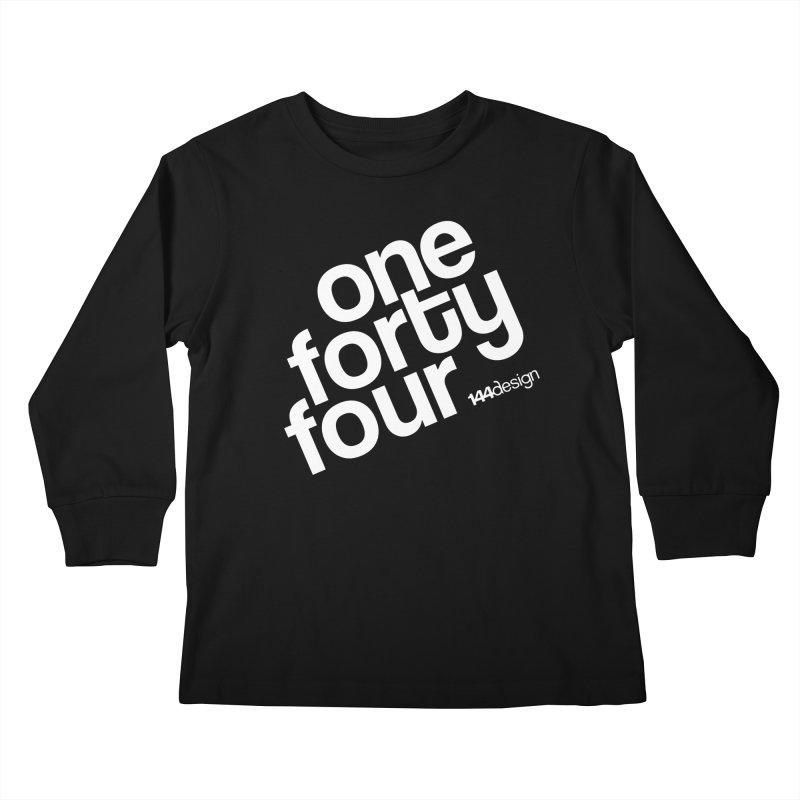 onefortyfour-white Kids Longsleeve T-Shirt by 144design