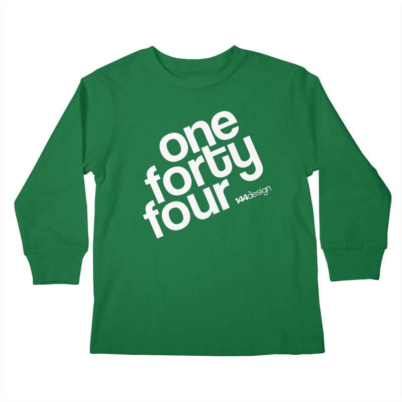 onefortyfour-white Kids Longsleeve T-Shirt by 144design