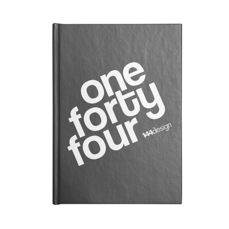 onefortyfour-white Accessories Lined Journal Notebook by 144design