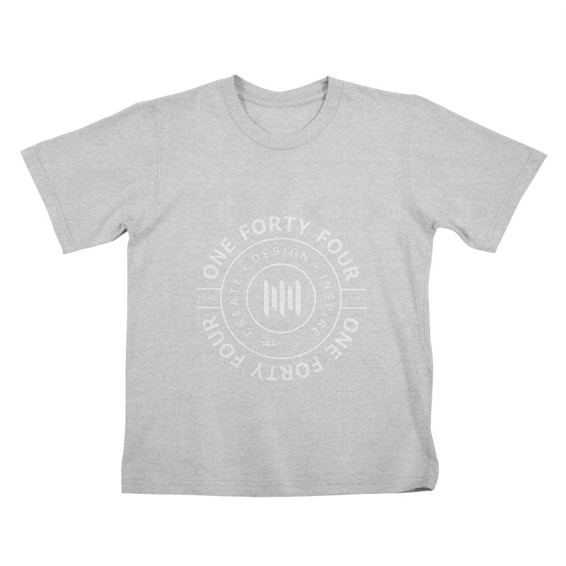 OneFortyFour Circle (white) Kids T-Shirt by 144design