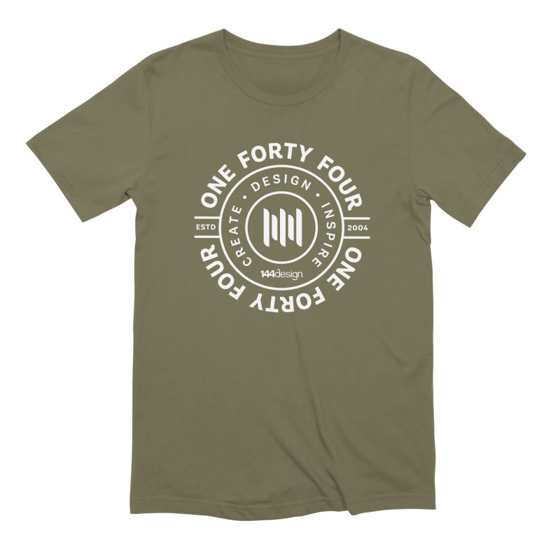 144design (white circle) Men's T-Shirt by 144design