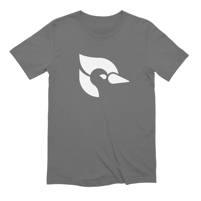 ClueJay 1 Color White Men's T-Shirt by 144design