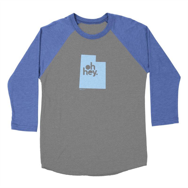 Oh Hey - Utah Women's Baseball Triblend Longsleeve T-Shirt by 144design