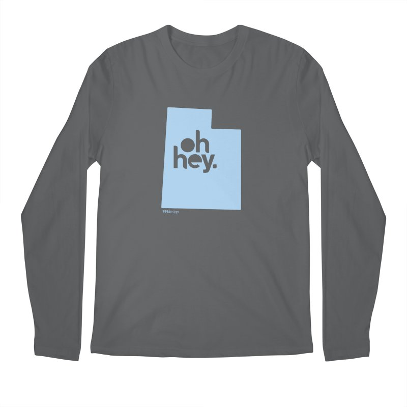 Oh Hey - Utah Men's Regular Longsleeve T-Shirt by 144design