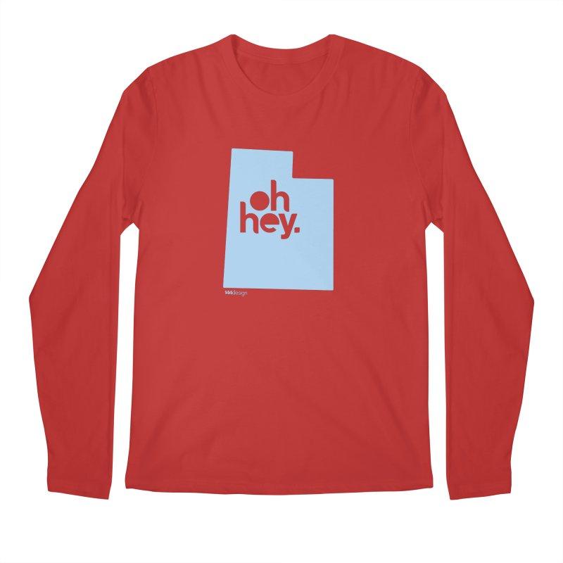 Oh Hey - Utah Men's Regular Longsleeve T-Shirt by 144design