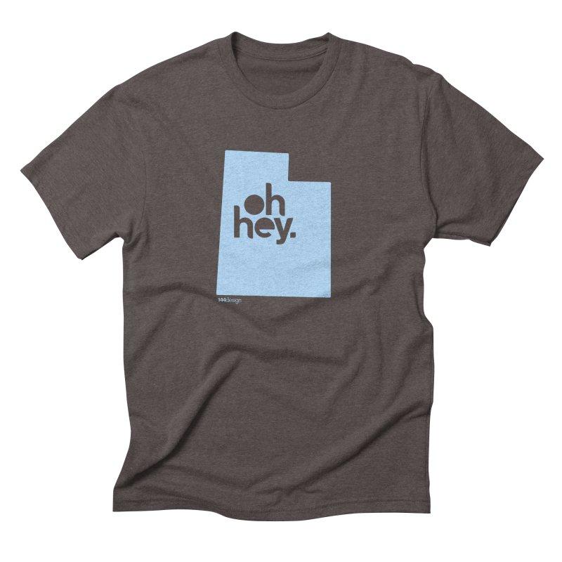Oh Hey - Utah Men's Triblend T-Shirt by 144design