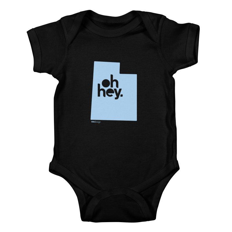 Oh Hey - Utah Kids Baby Bodysuit by 144design