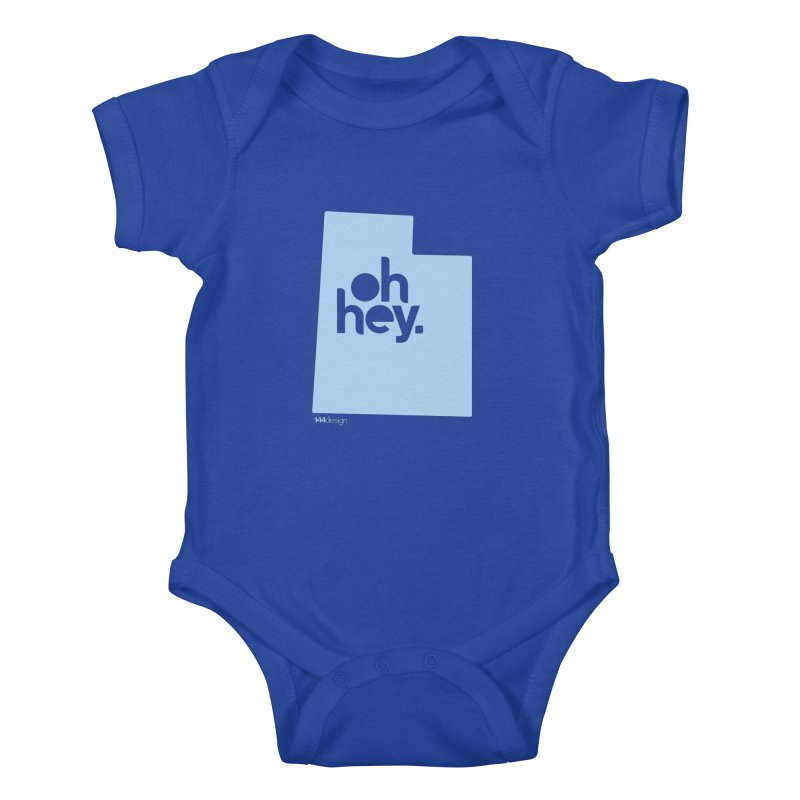 Oh Hey - Utah Kids Baby Bodysuit by 144design