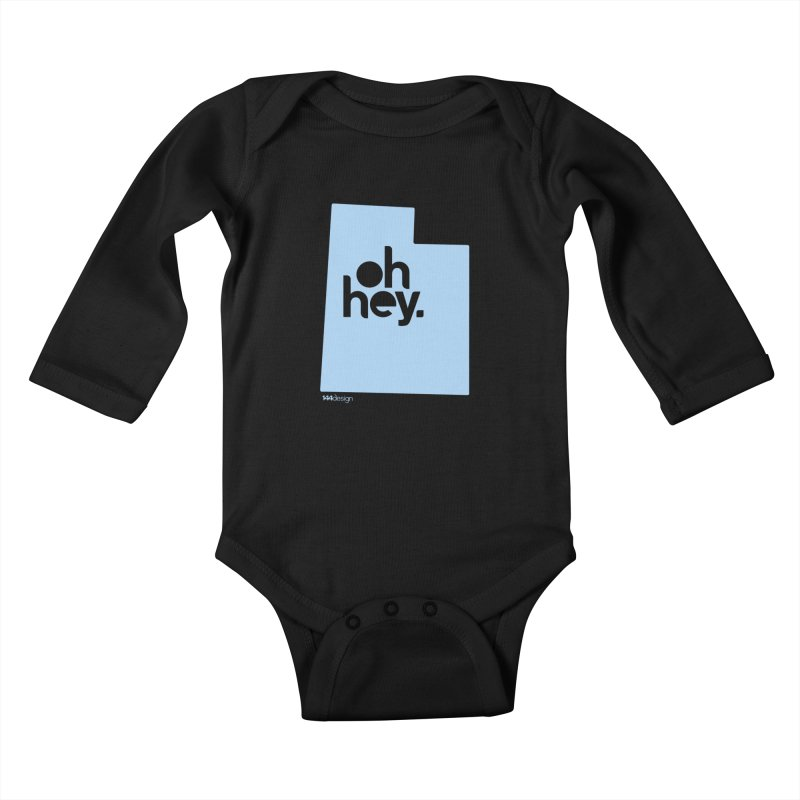 Oh Hey - Utah Kids Baby Longsleeve Bodysuit by 144design