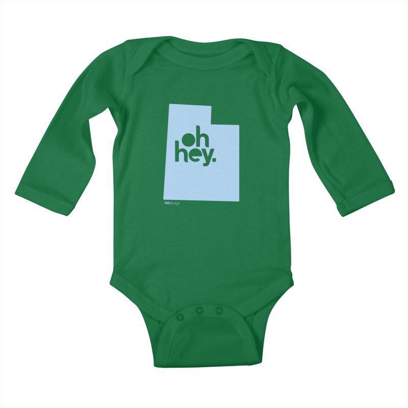 Oh Hey - Utah Kids Baby Longsleeve Bodysuit by 144design