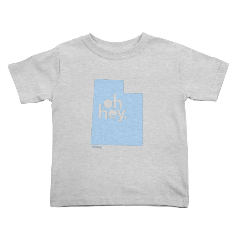 Oh Hey - Utah Kids Toddler T-Shirt by 144design