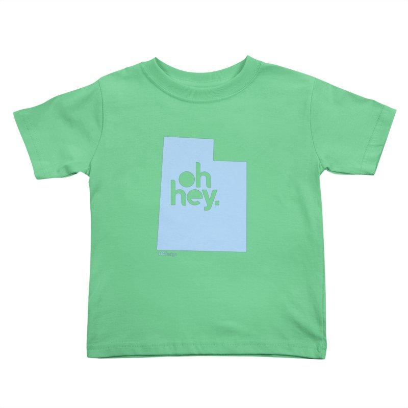 Oh Hey - Utah Kids Toddler T-Shirt by 144design