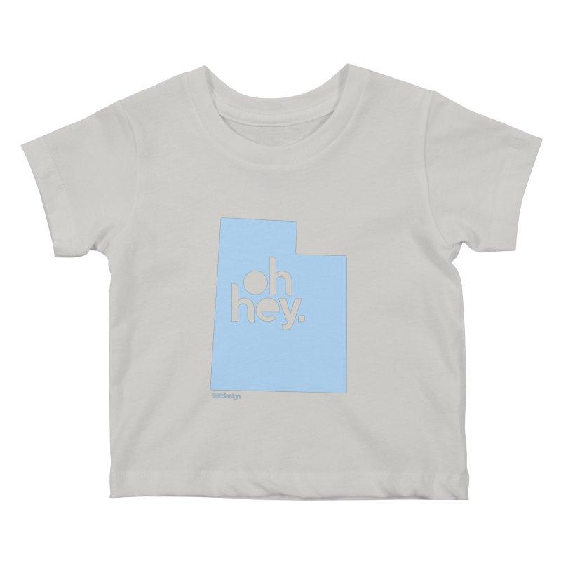 Oh Hey - Utah Kids Baby T-Shirt by 144design