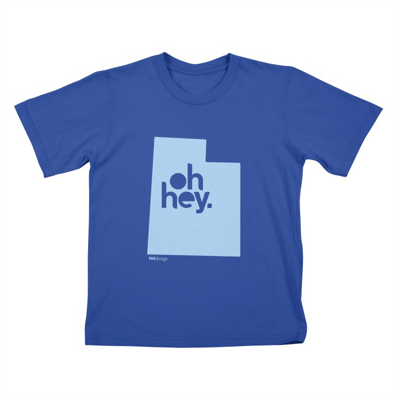 Oh Hey - Utah Kids T-Shirt by 144design