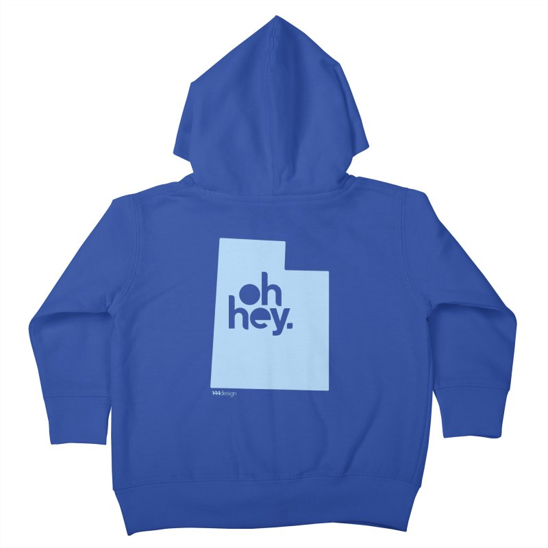 Oh Hey - Utah Kids Toddler Zip-Up Hoody by 144design