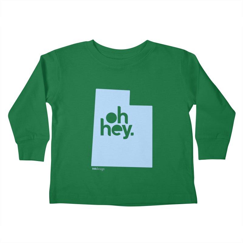 Oh Hey - Utah Kids Toddler Longsleeve T-Shirt by 144design