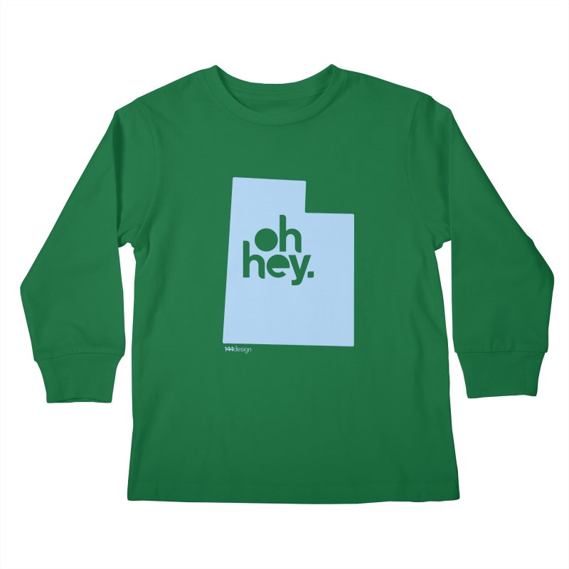 Oh Hey - Utah Kids Longsleeve T-Shirt by 144design