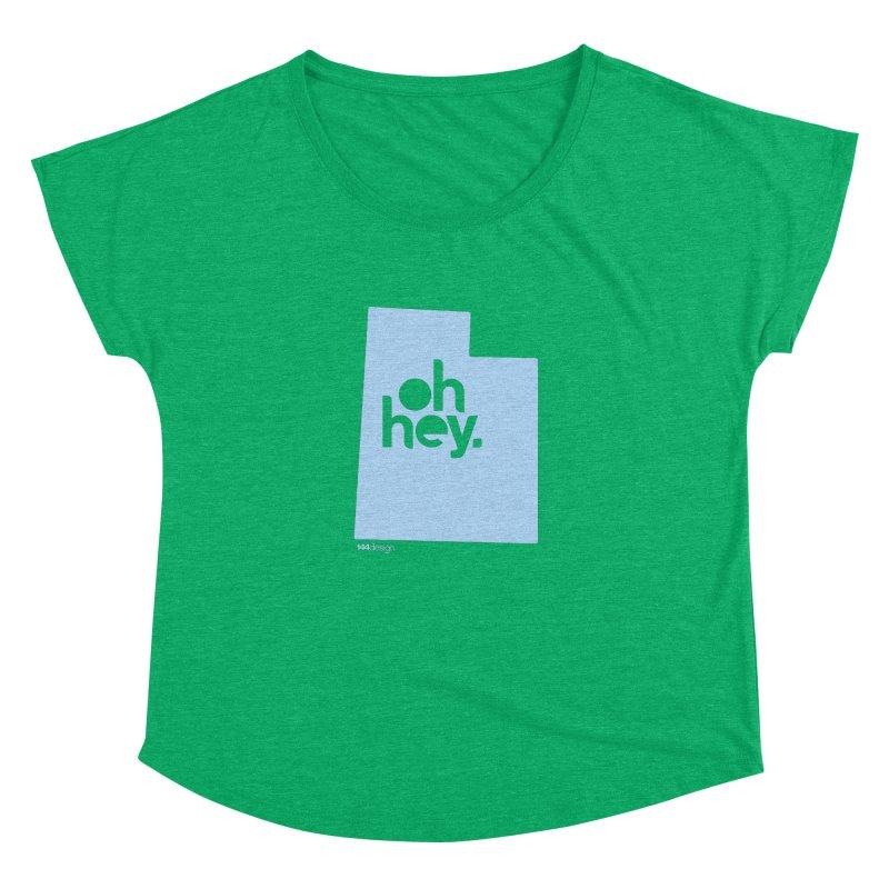 Oh Hey - Utah Women's Scoop Neck by 144design