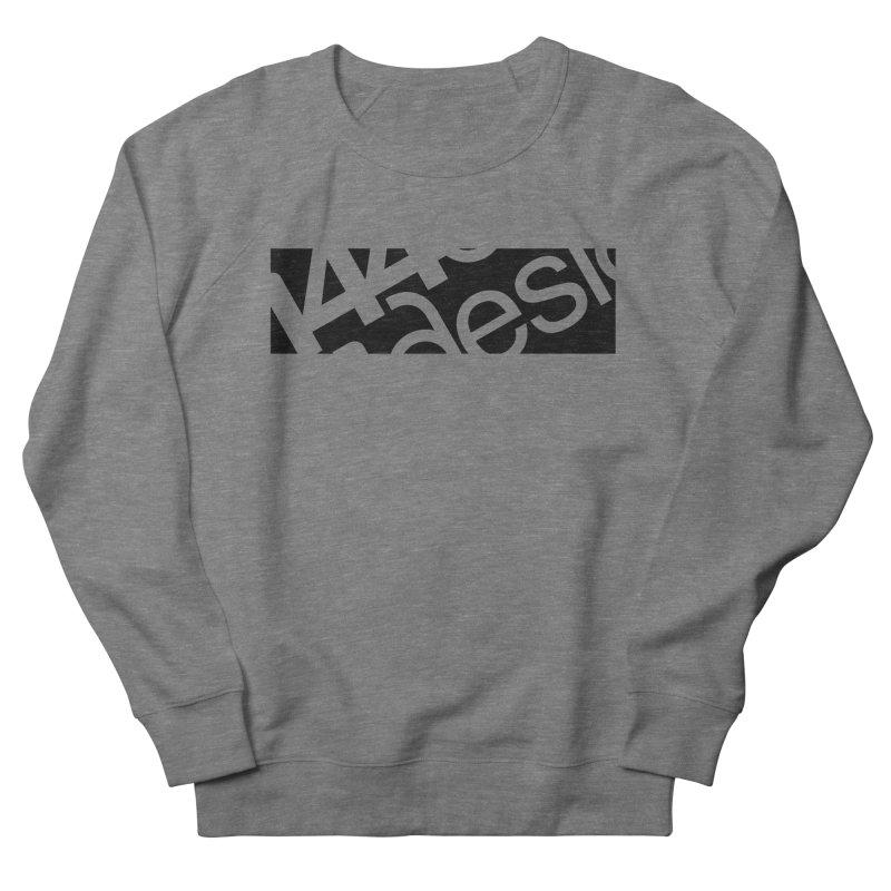 144design-black bar Men's French Terry Sweatshirt by 144design