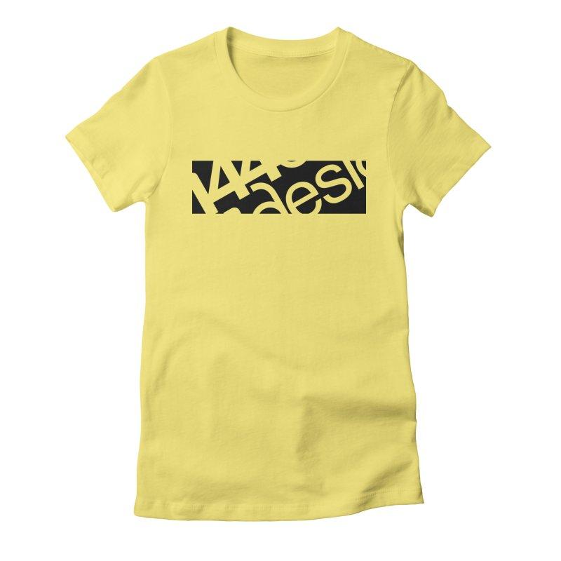 144design-black bar Women's Fitted T-Shirt by 144design