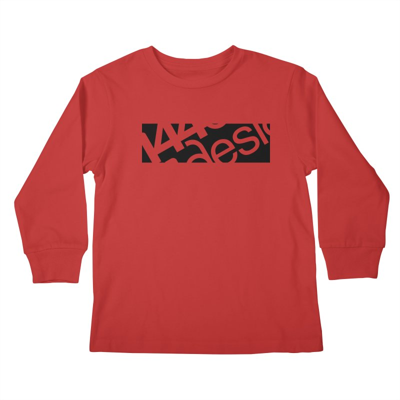 144design-black bar Kids Longsleeve T-Shirt by 144design