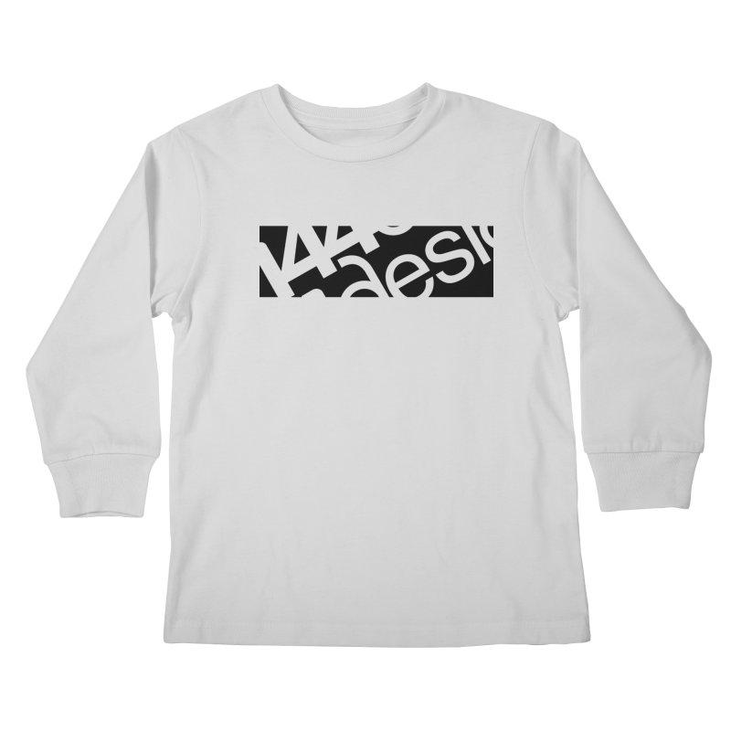 144design-black bar Kids Longsleeve T-Shirt by 144design