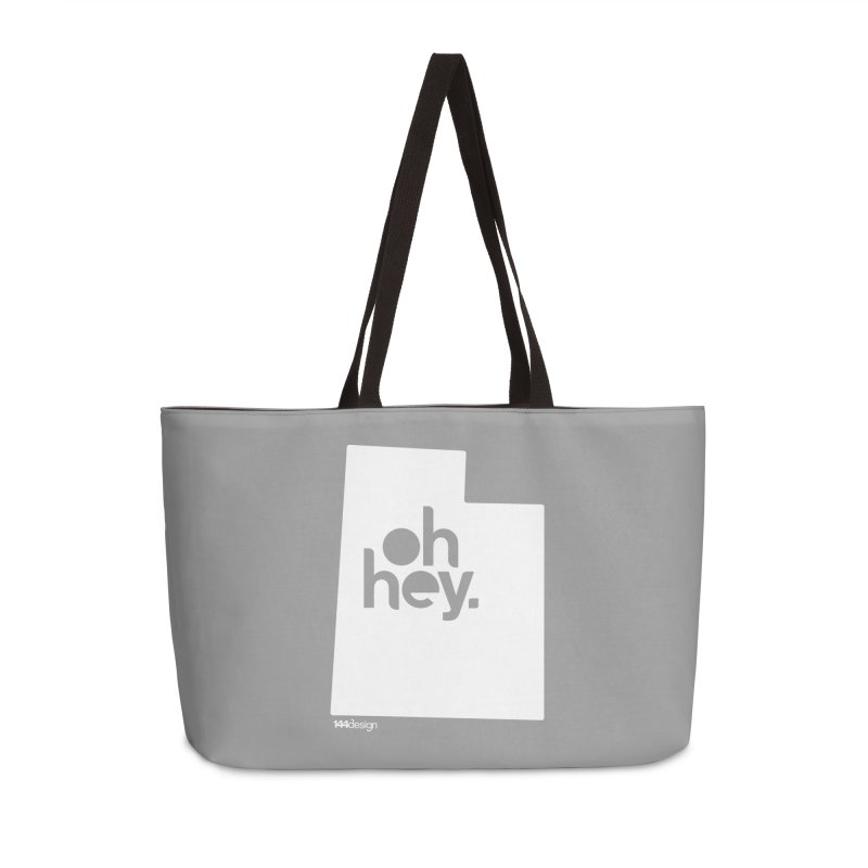 Oh Hey : Utah (White) Accessories Bag by 144design