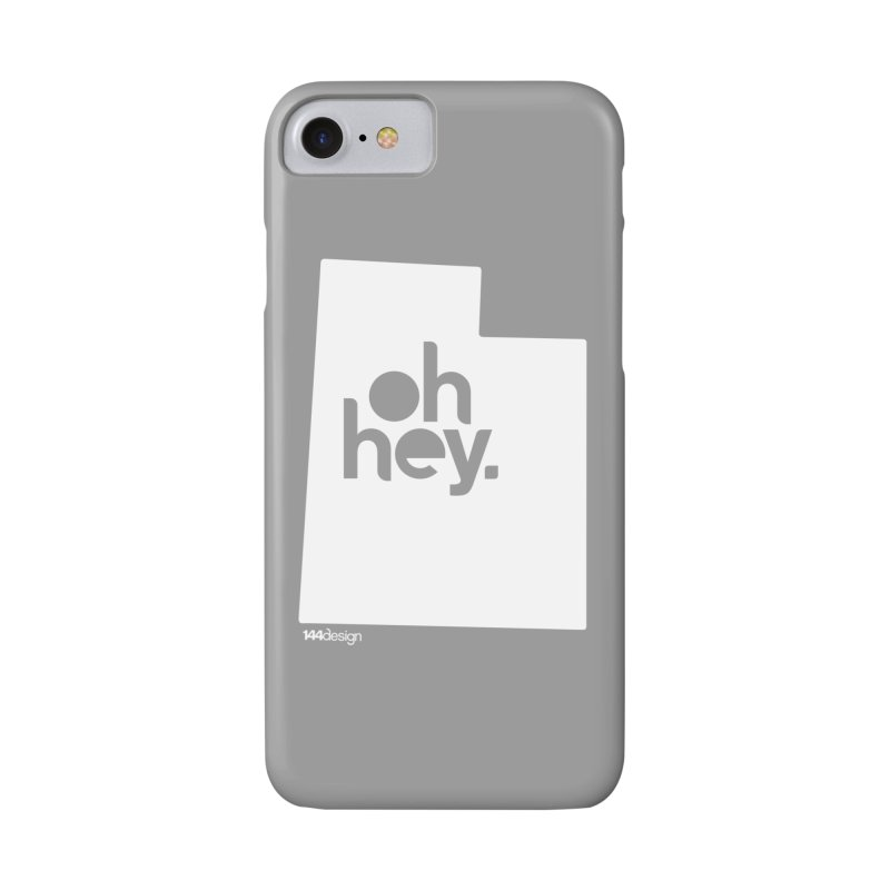 Oh Hey : Utah (White) Accessories Phone Case by 144design