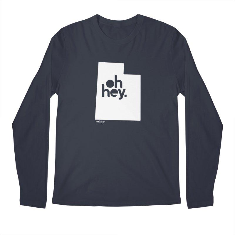 Oh Hey : Utah (White) Men's Longsleeve T-Shirt by 144design